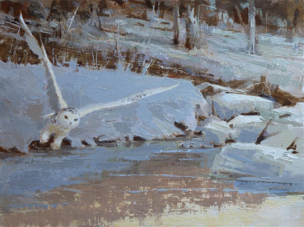 """""""Snowy Owl"""" original fine art by Ron Ferkol"""