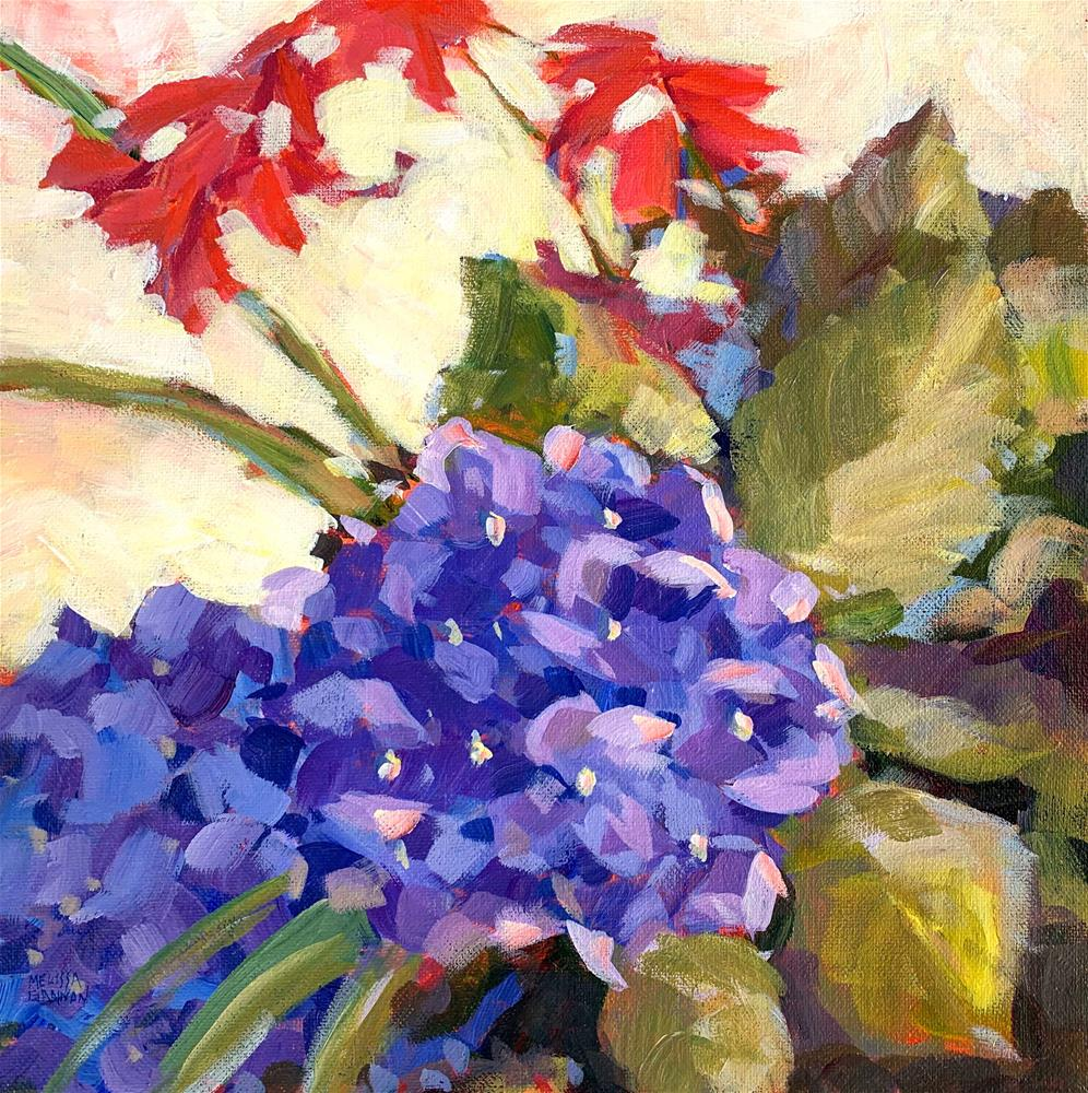 """Backyard Hydrangea"" original fine art by Melissa Gannon"