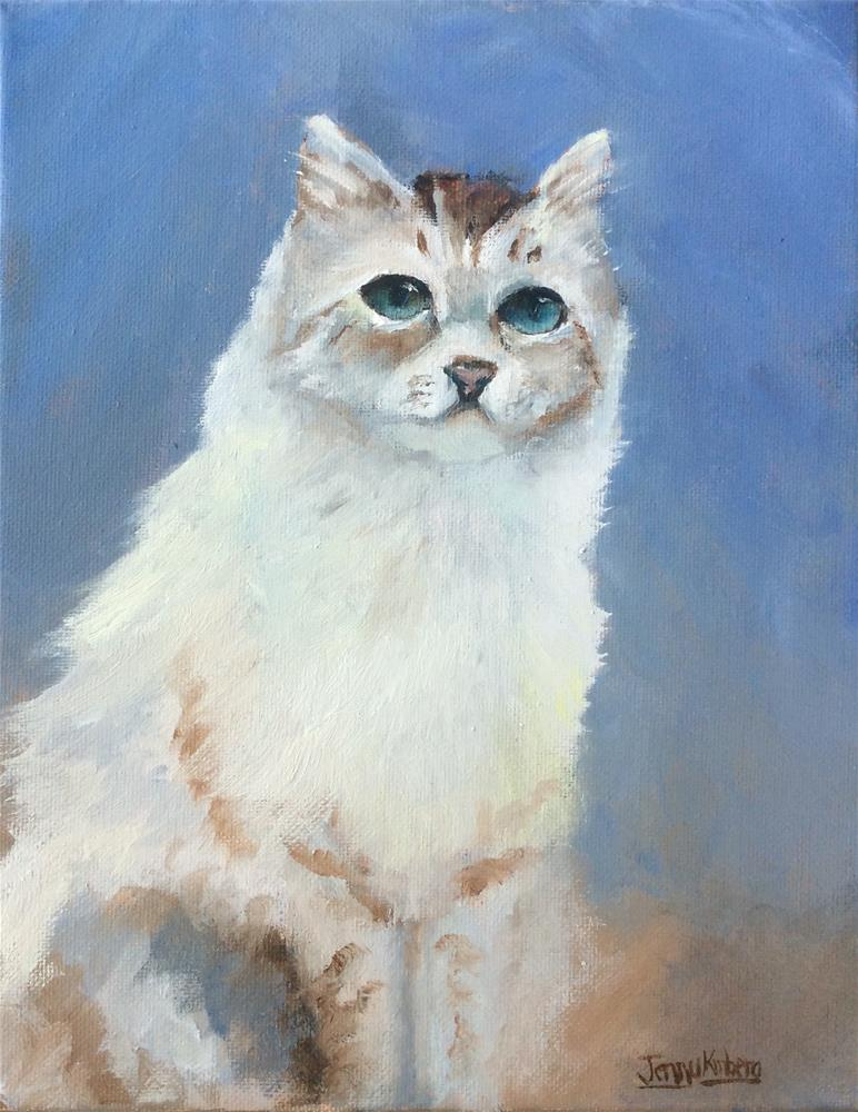 """Paewen De Cat Study"" original fine art by Jenny Kinberg"
