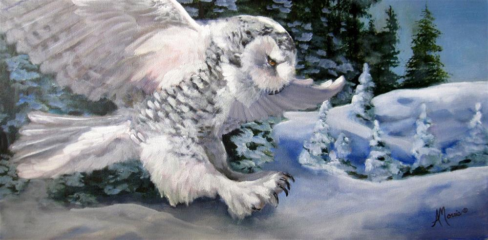 """Snowy Knight"" original fine art by Andrea Morris"