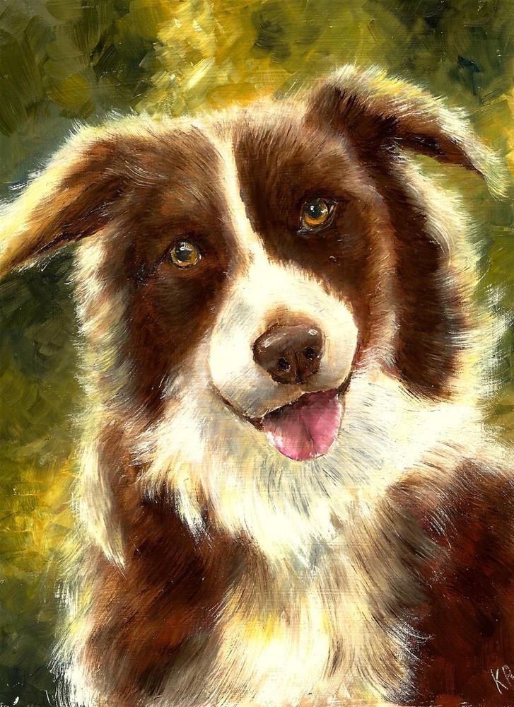 """""""Brown Collie"""" original fine art by Karen Robinson"""