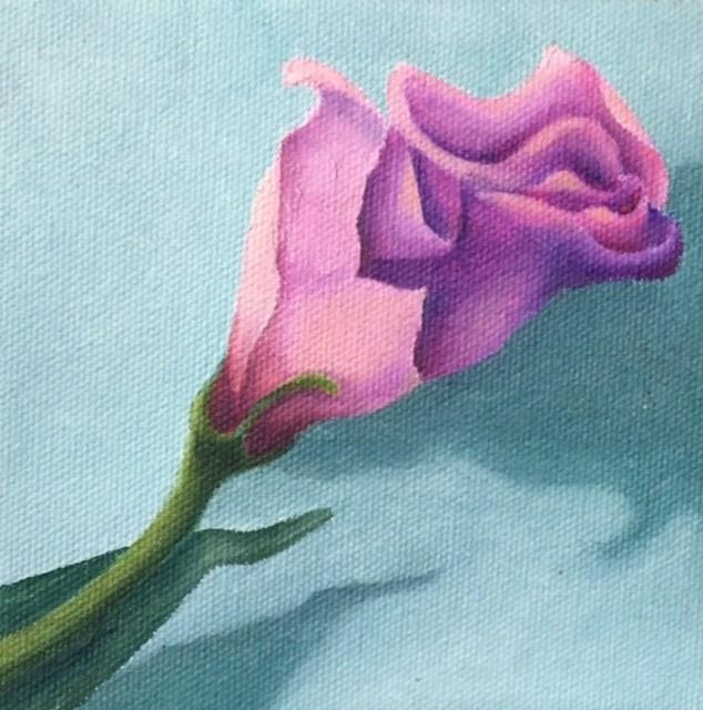 """Pink Bud"" original fine art by Karen Collins"