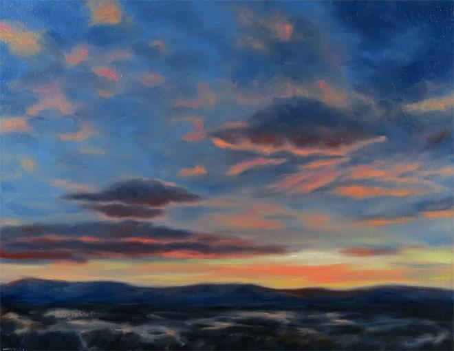 """Flying Saucers"" original fine art by Carol Zirkle"