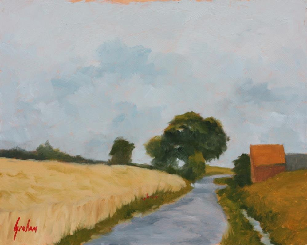 """""""Late afternoon wheat field"""" original fine art by Graham Townsend"""