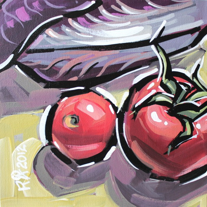 """""""Tomatoes and radicchio 3"""" original fine art by Roger Akesson"""