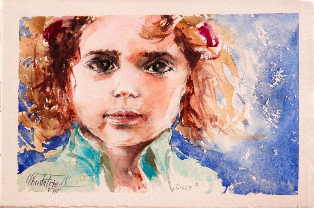 """Lilly"" original fine art by Christa Friedl"