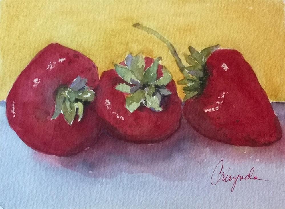 """Tres Fraise"" original fine art by Crisynda Buss"