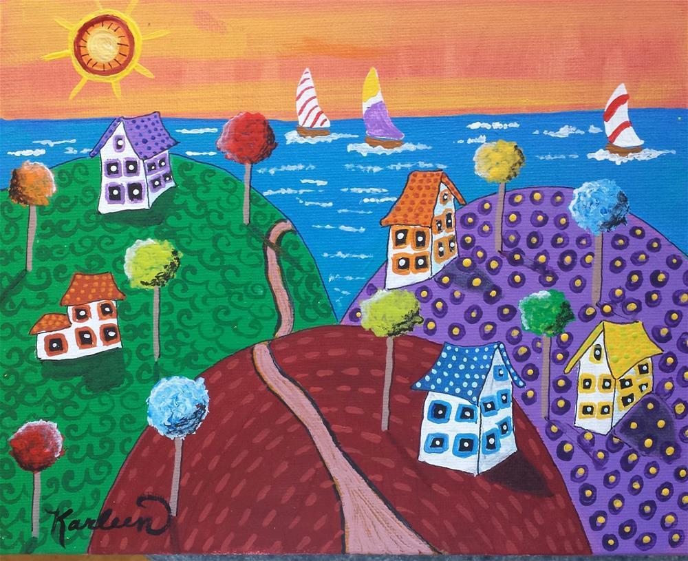 """Let's Go to the Beach"" original fine art by Karleen Kareem"