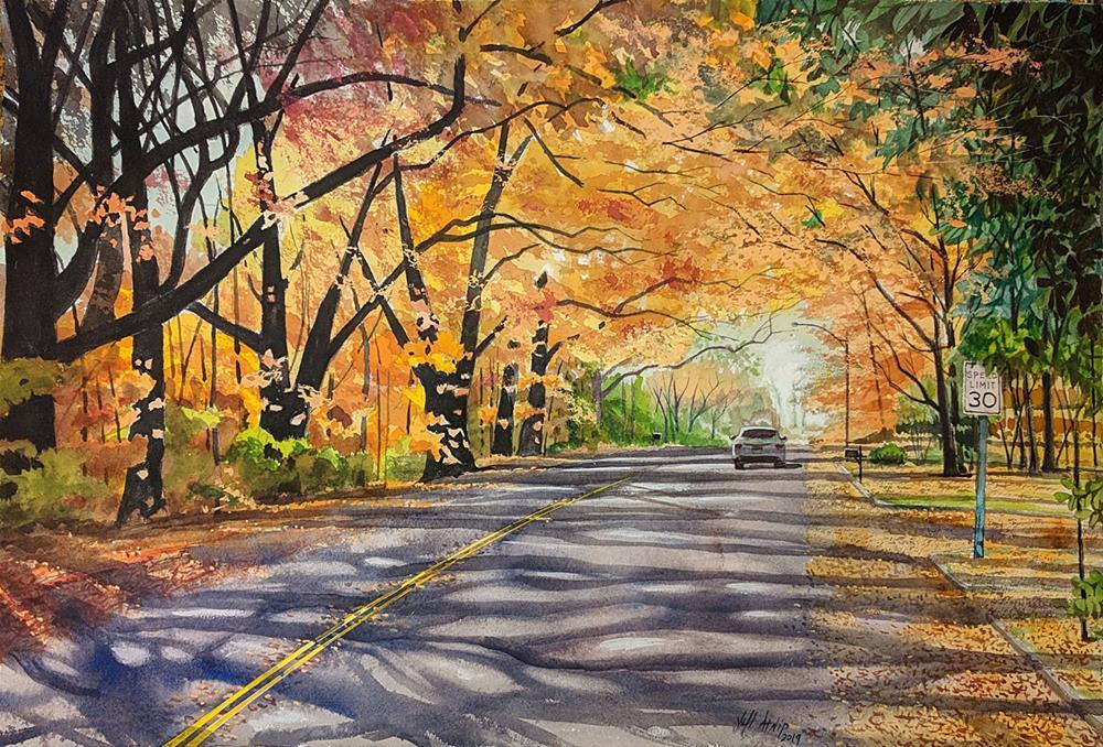 """Autumn Drive"" original fine art by Jeff Atnip"