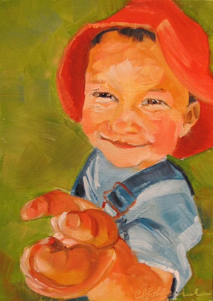 """I Love You 5x7 oil"" original fine art by Christine Holzschuh"