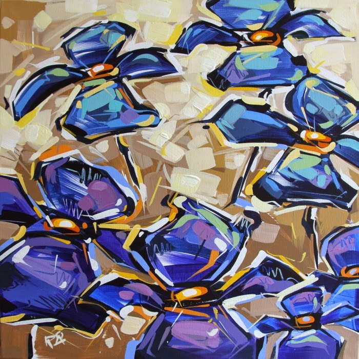 """""""Flower Abstraction 121"""" original fine art by Roger Akesson"""