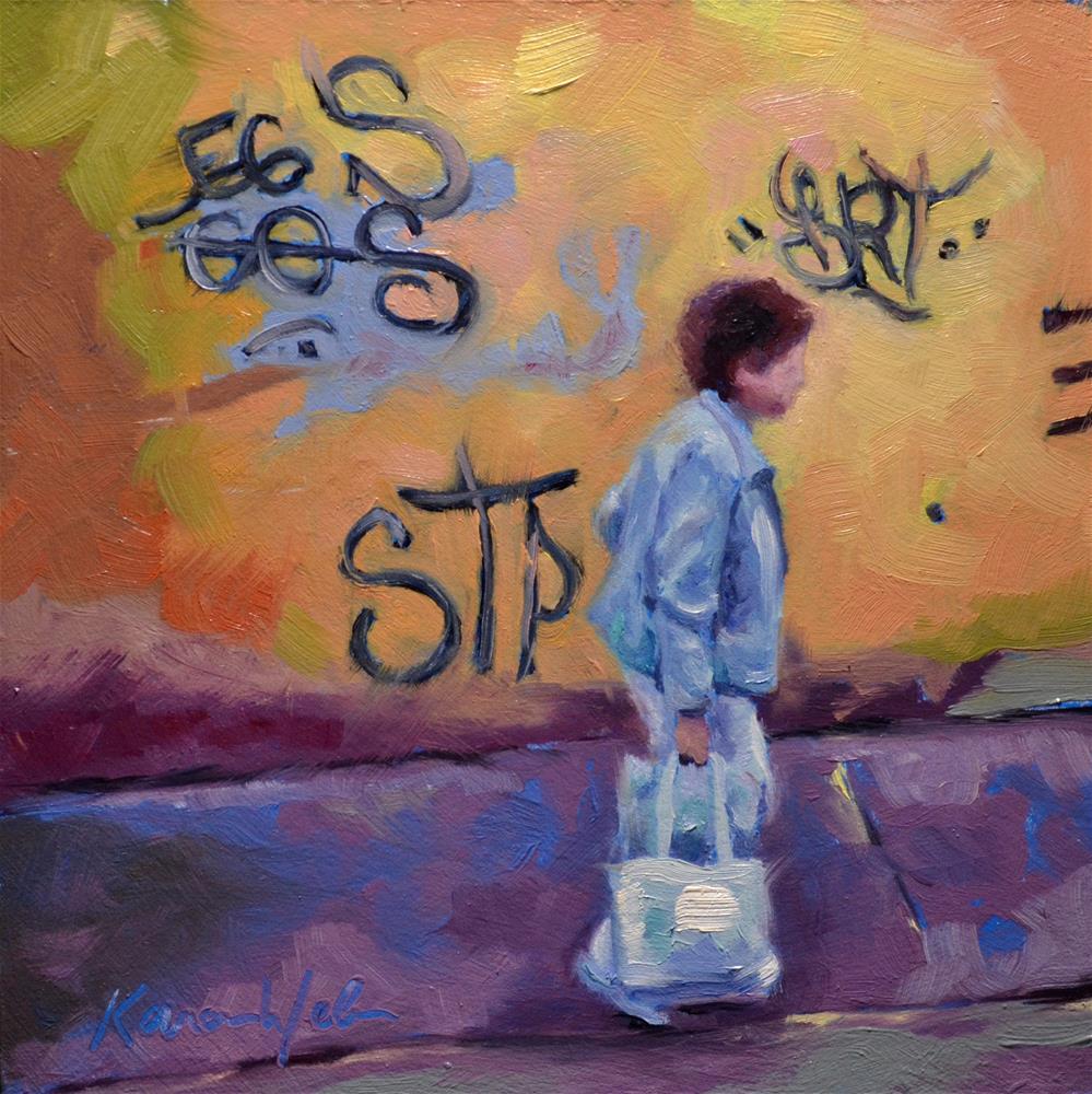 """""""Tagged"""" original fine art by Karen Weber"""