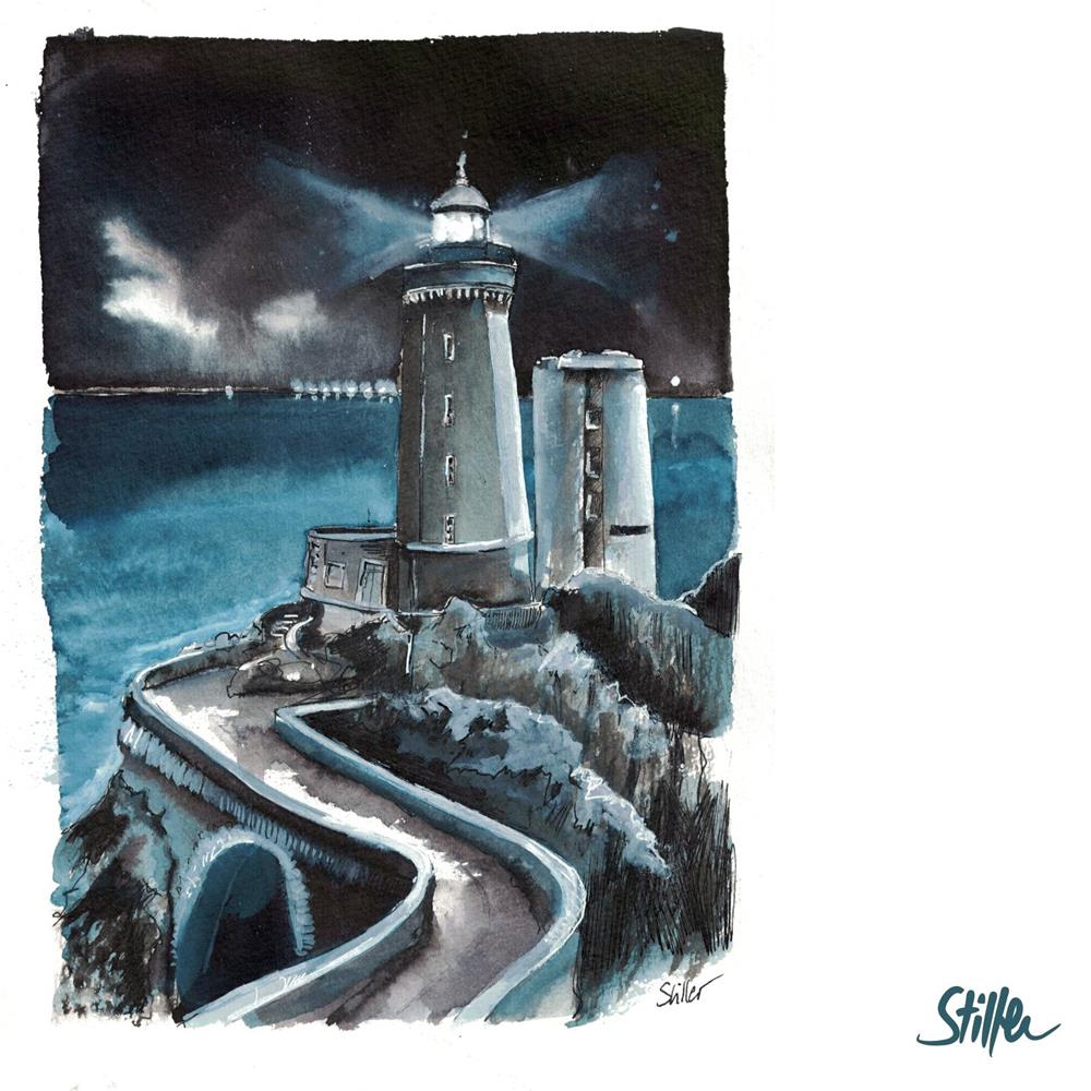 """""""3438 Plouzané Lighthouse"""" original fine art by Dietmar Stiller"""
