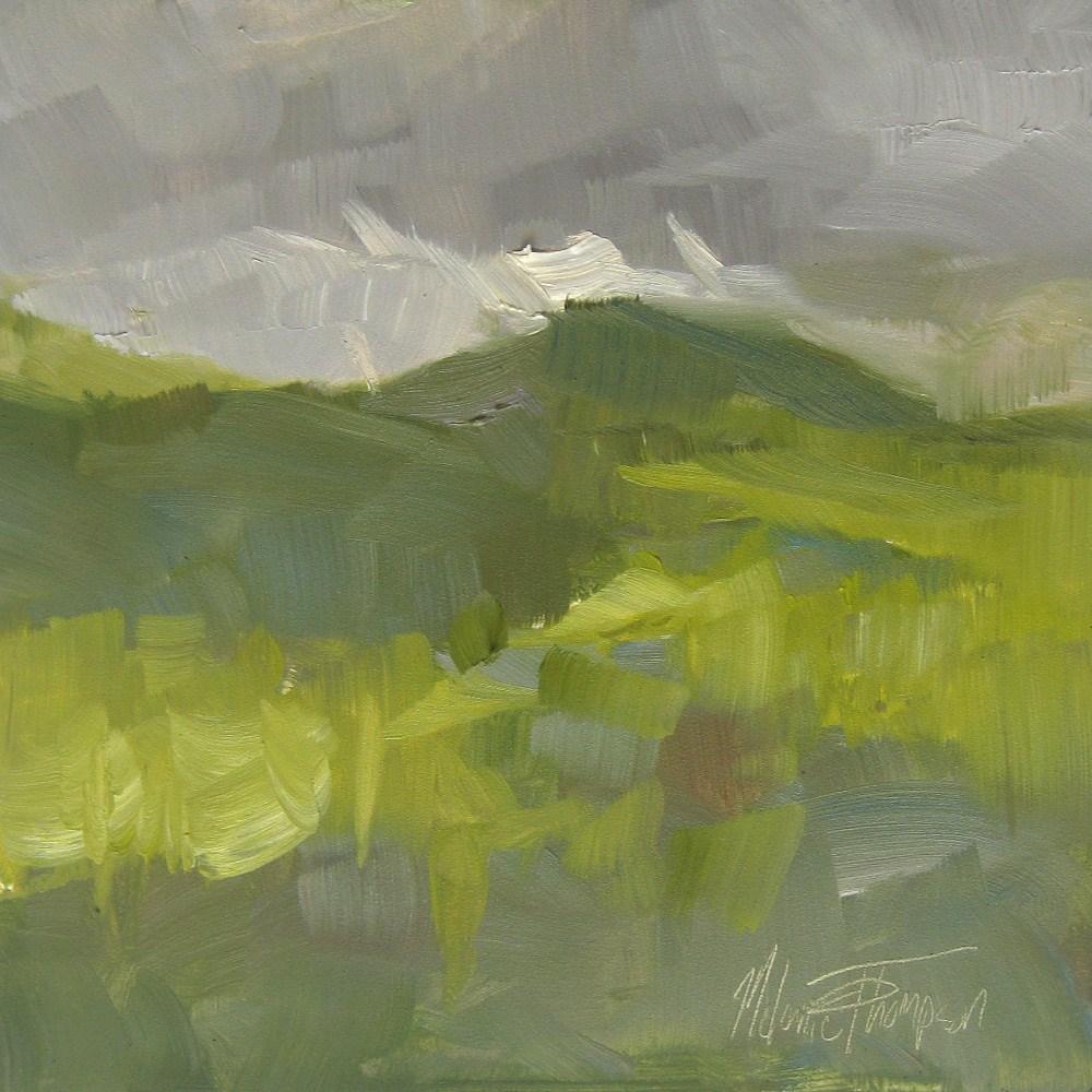 """Clouds over Chinook Pass"" original fine art by Melanie Thompson"