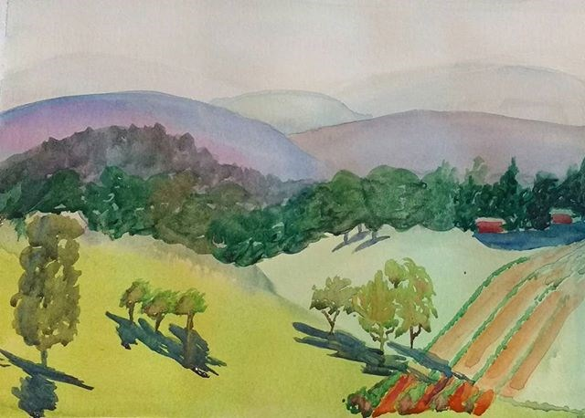 """Blue Ridge Afternoon IV"" original fine art by Maria Peagler"