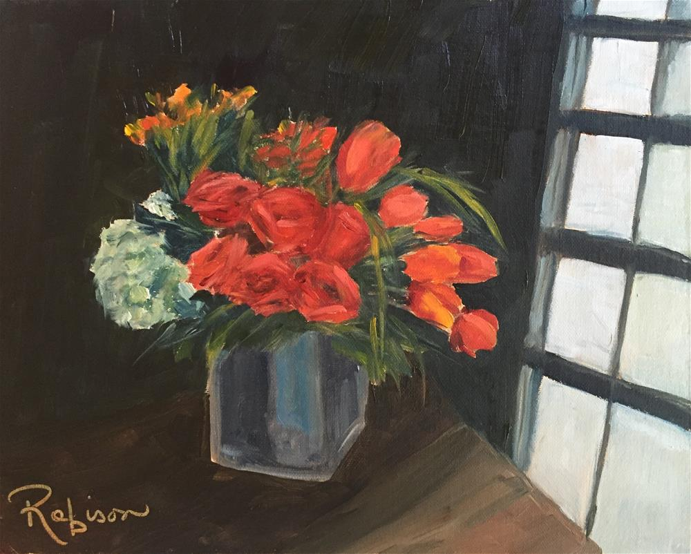 """Amy's Bouquet"" original fine art by Renee Robison"