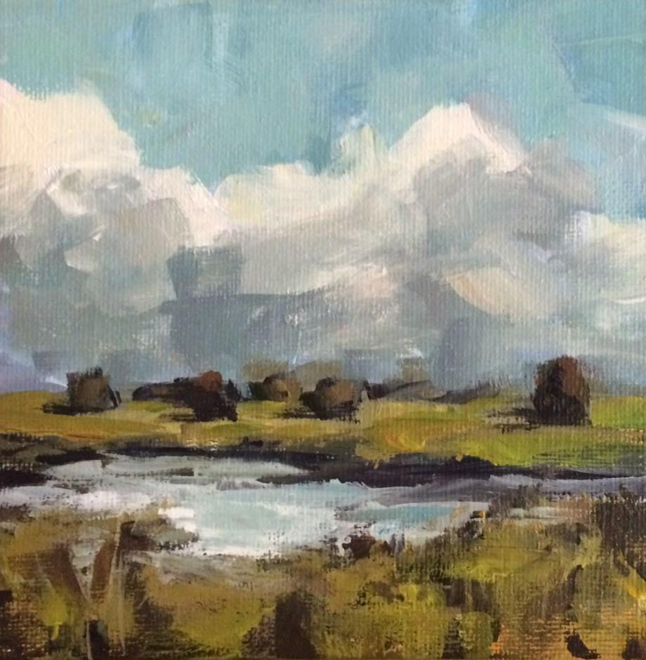 """Marshfield in Autumn"" original fine art by Shannon Bauer"