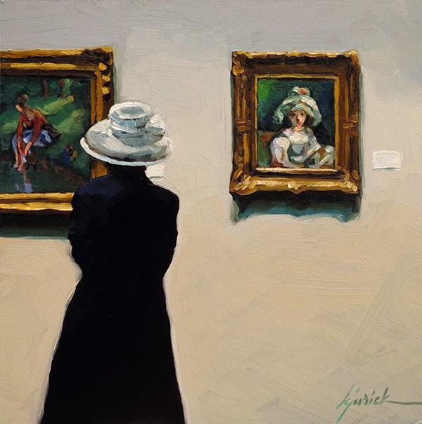 """""""Hat Day"""" original fine art by Karin Jurick"""