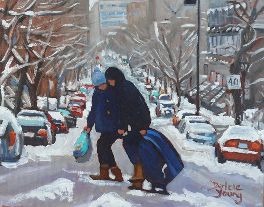 """""""1013 McGill Best Friends, 8x10, oil on board"""" original fine art by Darlene Young"""