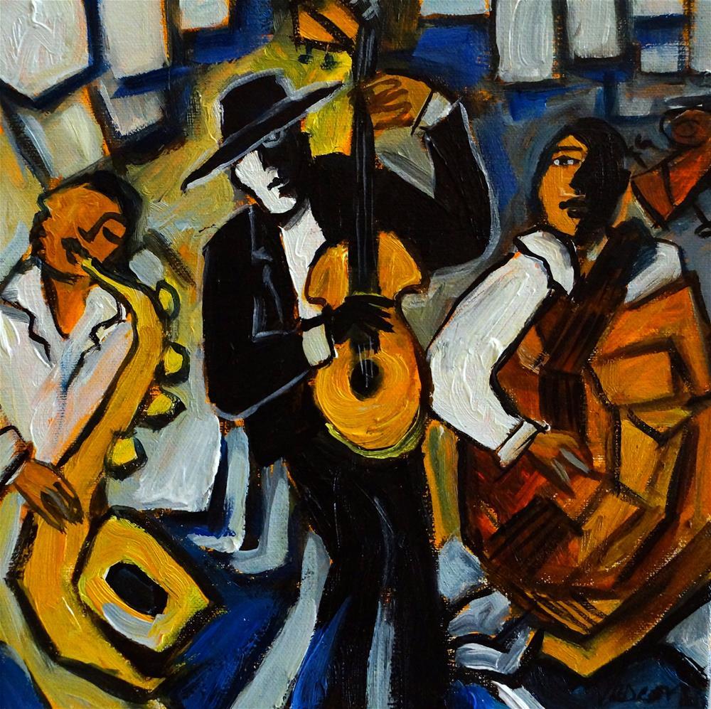 """Street Musicians"" original fine art by Valerie Vescovi"