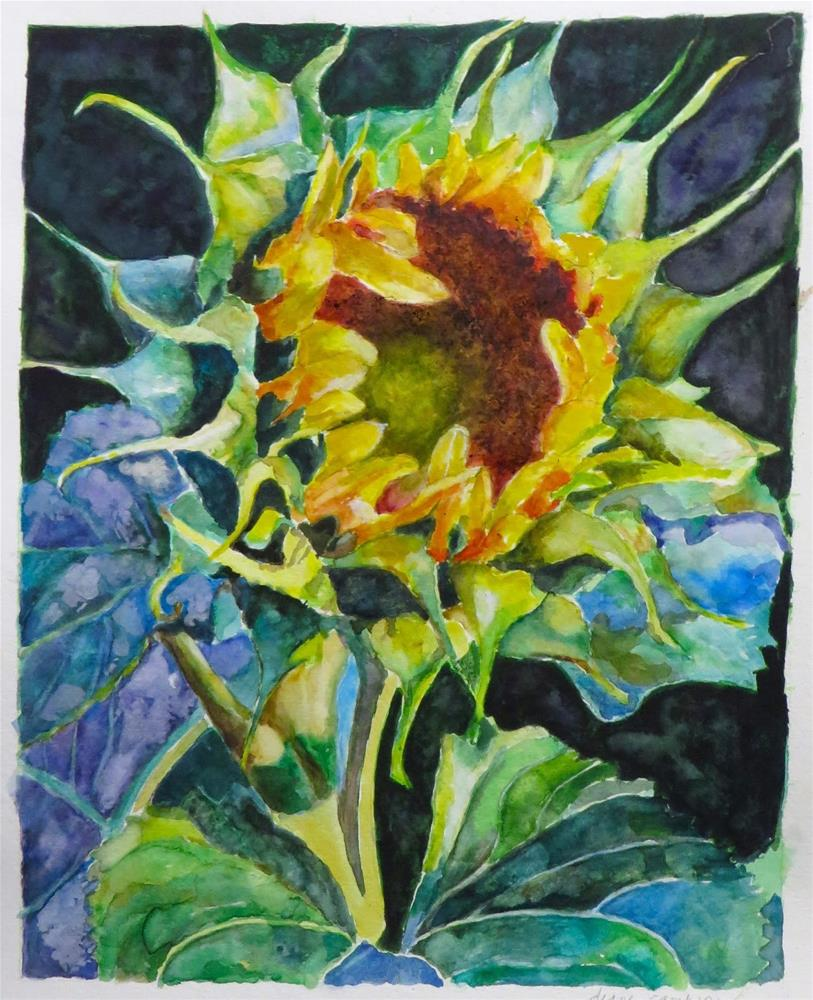 """806 Sunflower"" original fine art by Diane Campion"