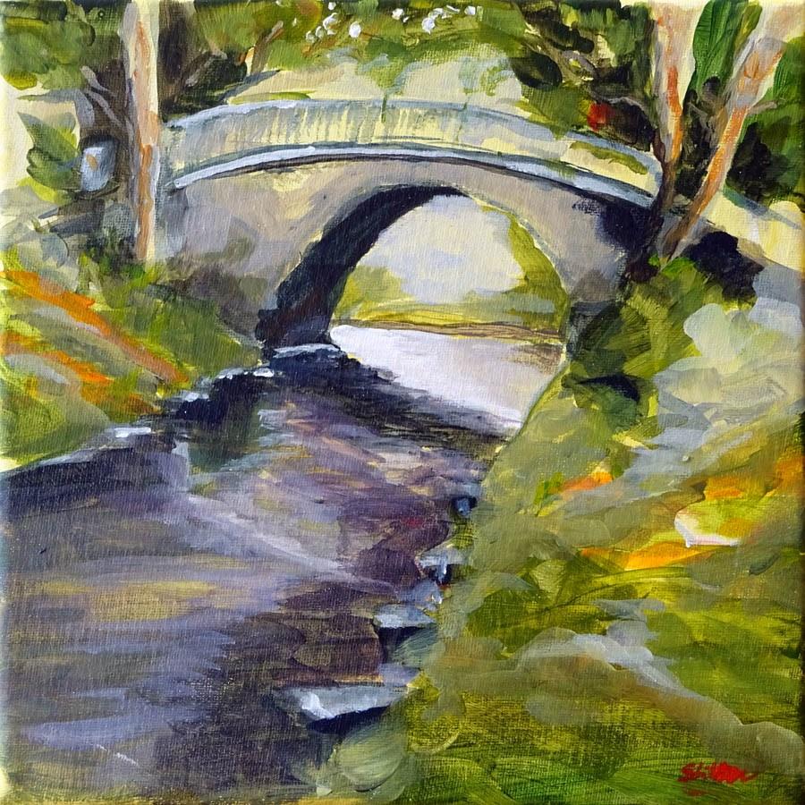 """1425 Bridge at boesner"" original fine art by Dietmar Stiller"
