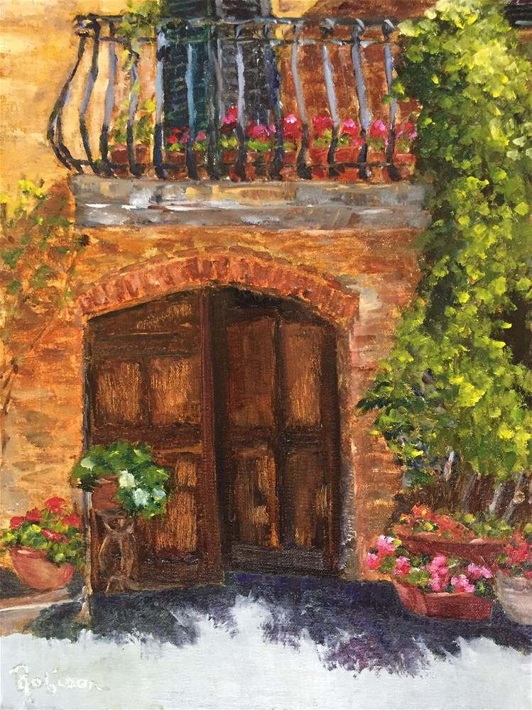 """Pienza Doorway"" original fine art by Renee Robison"