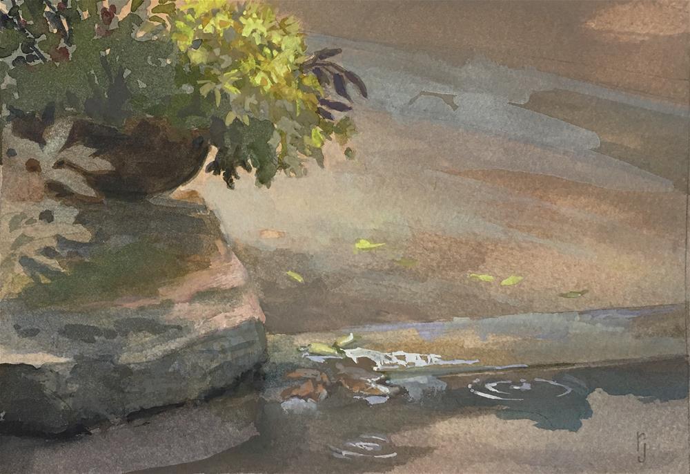 """Rain Puddle"" original fine art by Robyn Jorde"
