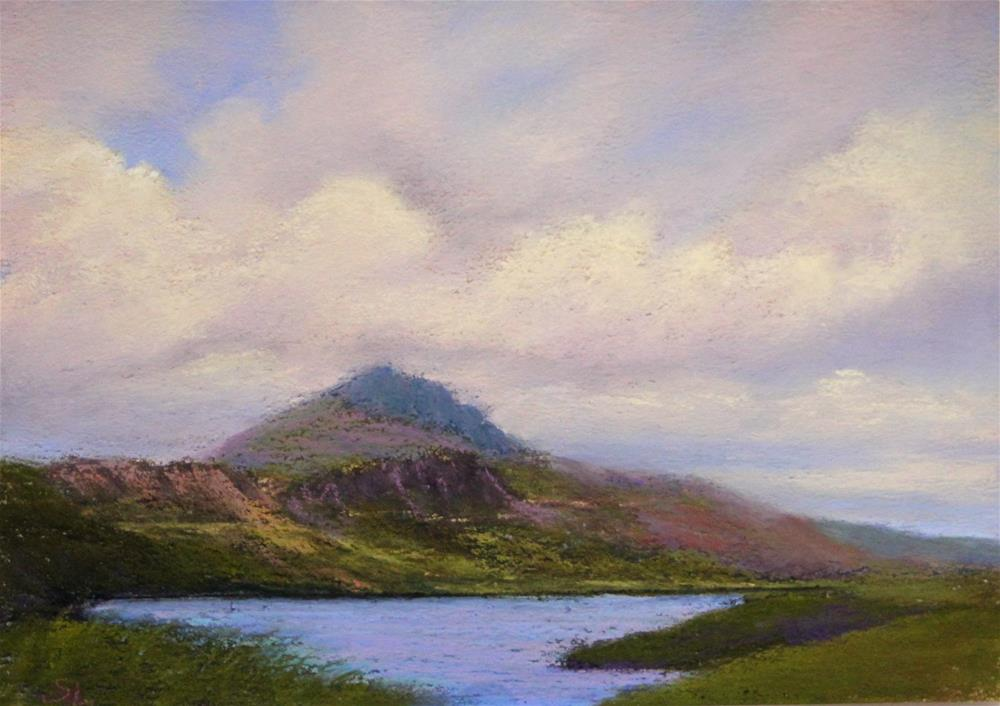 """""""A Cloudy Day on the Isle of Skye"""" original fine art by Sharon Lewis"""
