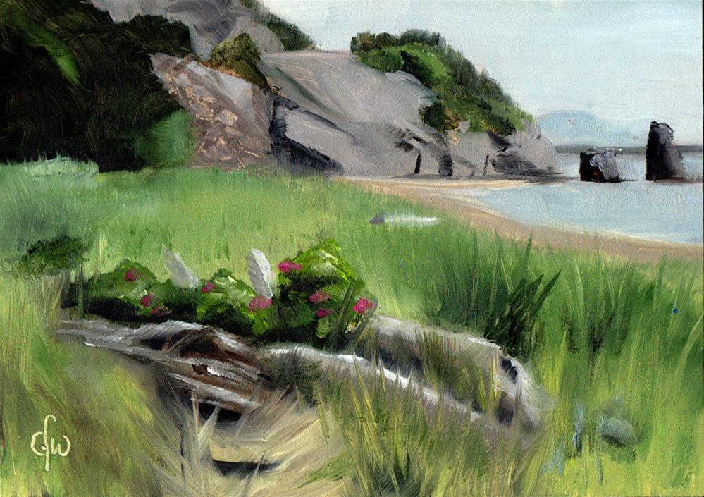 """Grassy Beach"" original fine art by Gary Westlake"