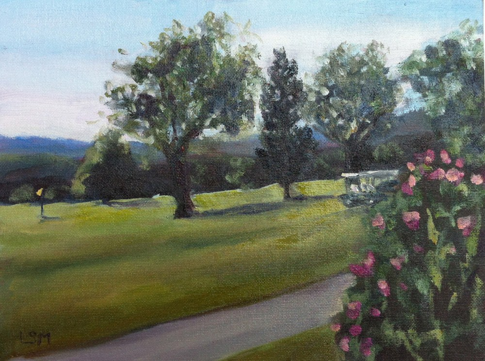 """Grassy Hill Country Club #2"" original fine art by Linda Marino"