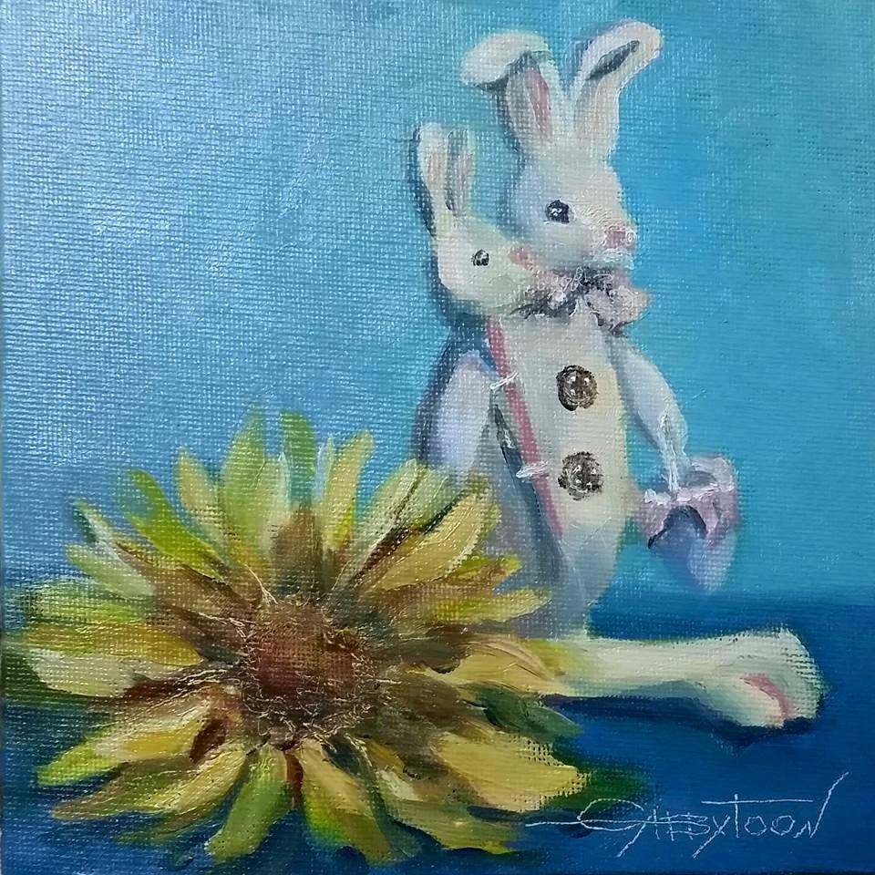 """""""Still Life With The Hare"""" original fine art by Gabriella DeLamater"""