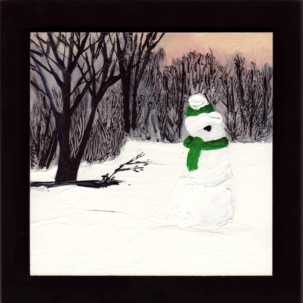 """Entity in the Snow"" original fine art by Andrea Jeris"