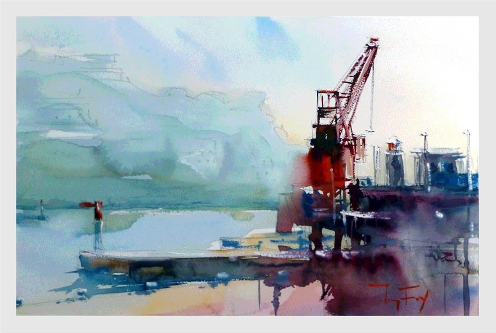 """Nizza, Hafen"" original fine art by Jurij Frey"
