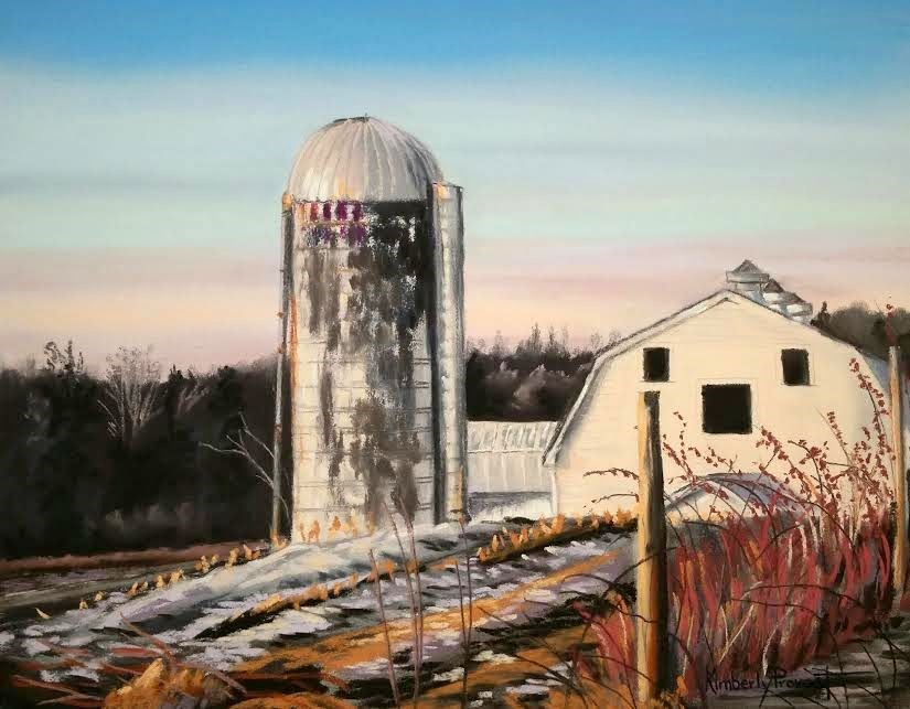 """The Last Resort Farm"" original fine art by Kimberly Provost"