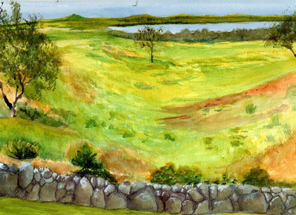 """""""Rock Wall"""" original fine art by Bunny Griffeth"""