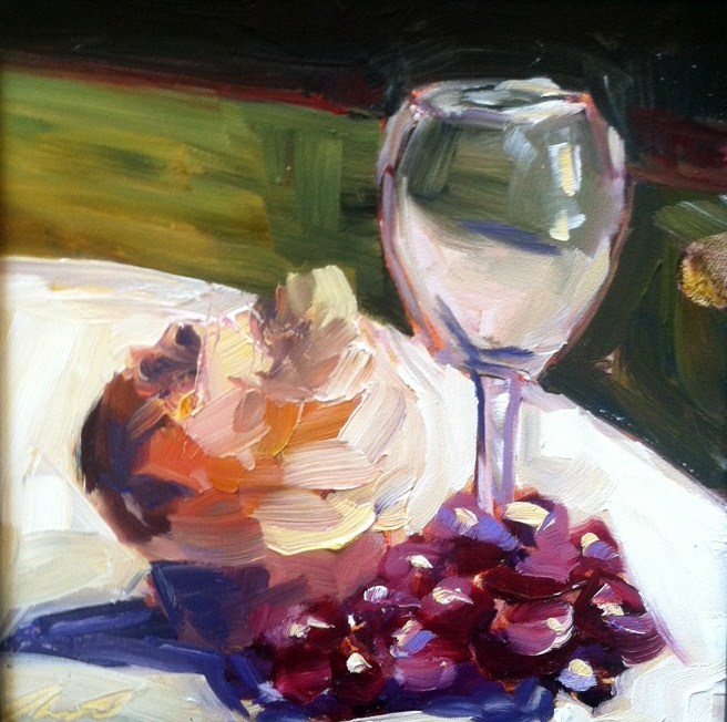 """Wine"" original fine art by Kristen Dukat"