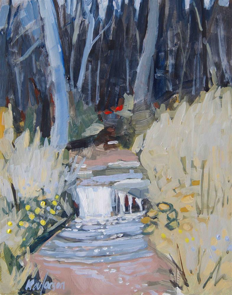 """Petite Falls"" original fine art by Kevin Larson"
