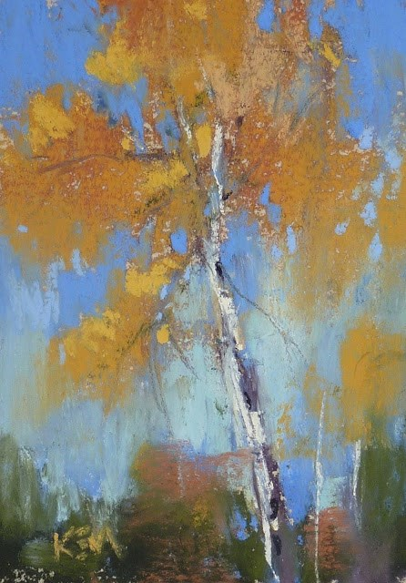 """""""Aspen Series Part 6 ....Trying Relaxed Playfullness"""" original fine art by Karen Margulis"""