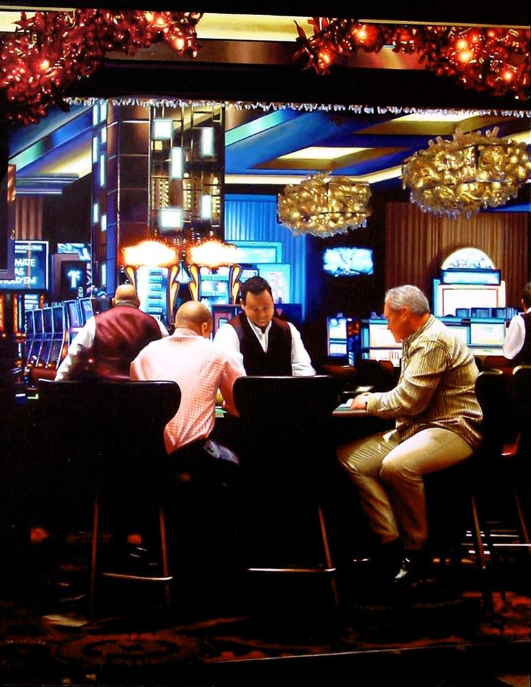 """""""Card Players- Painting Of Card Players In Las Vegas"""" original fine art by Gerard Boersma"""