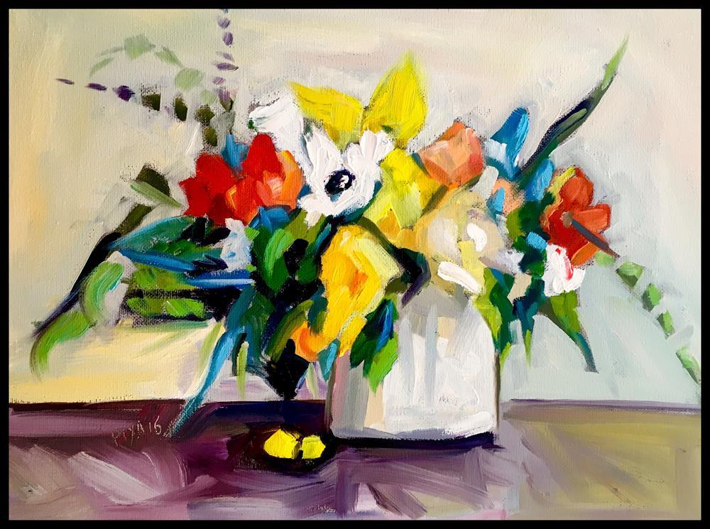 """Floral 914"" original fine art by Piya Samant"