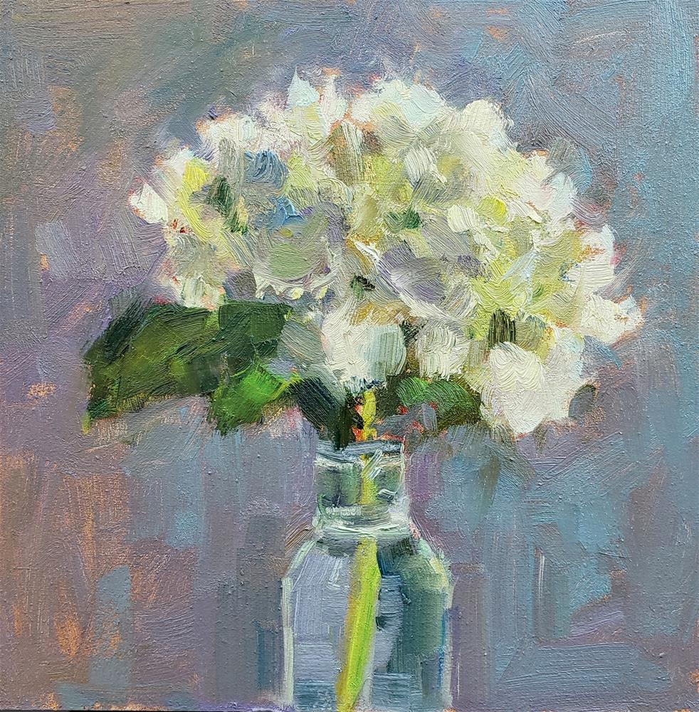 """Hydrangea"" original fine art by Barbie Smith"