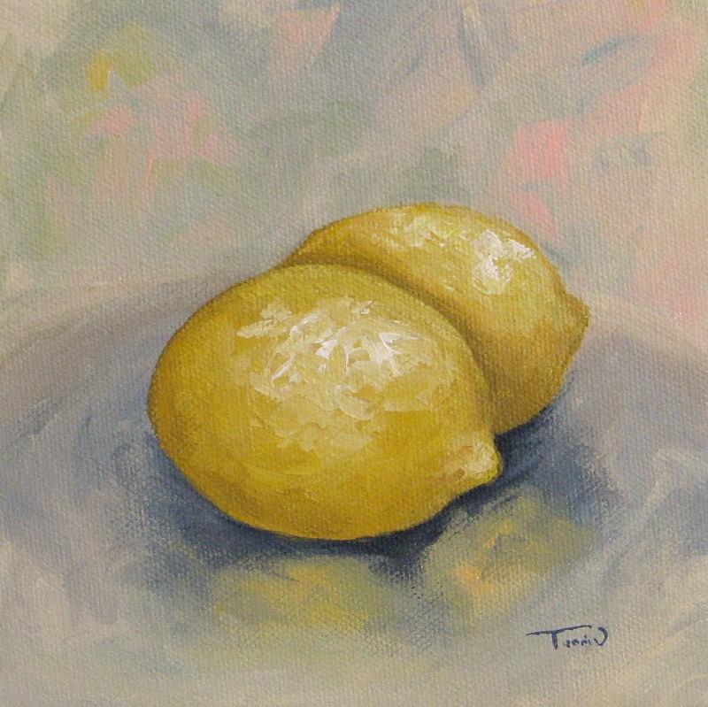 """""""Summer Lemons"""" original fine art by Torrie Smiley"""