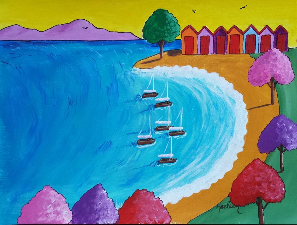 """Let's Go Sailing"" original fine art by Karleen Kareem"