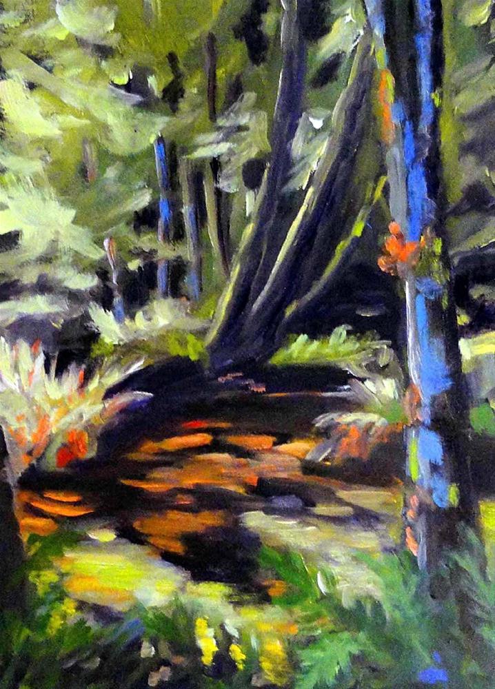 """River Through The Woods"" original fine art by Cietha Wilson"