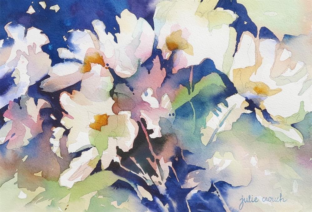 """""""Matilija Poppies"""" original fine art by Julie Crouch"""
