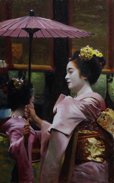 """Yasaka Dance"" original fine art by Phil Couture"