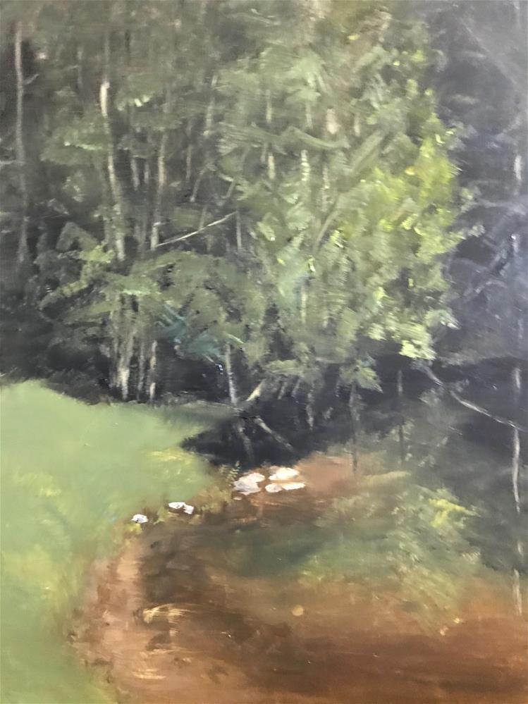 """reflection in the pond"" original fine art by Betty Argiros"