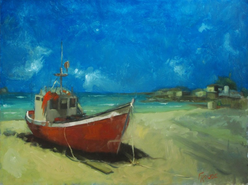 """""""Beached"""" original fine art by Dave Froude"""
