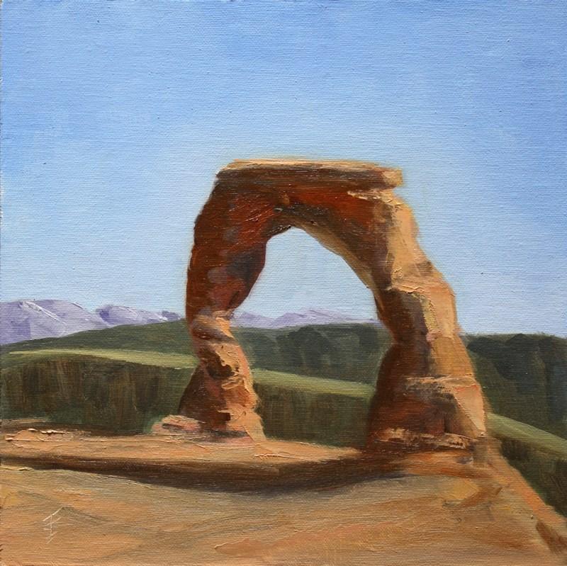"""""""Delicate Arch"""" original fine art by Jane Frederick"""